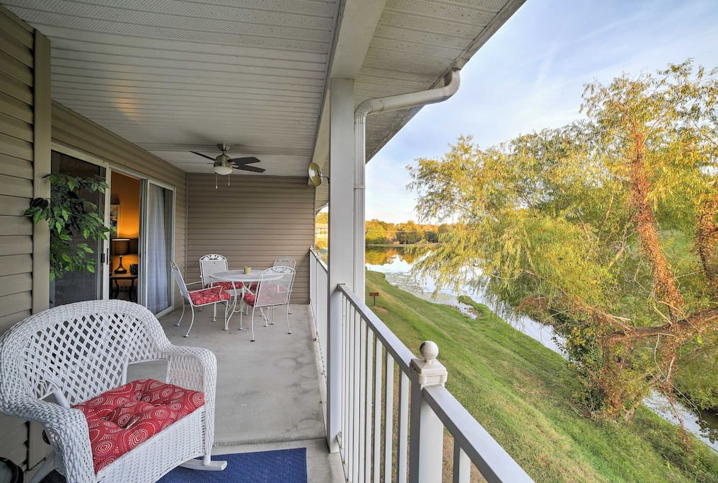 Enjoy pond and golf course views from the large covered porch!