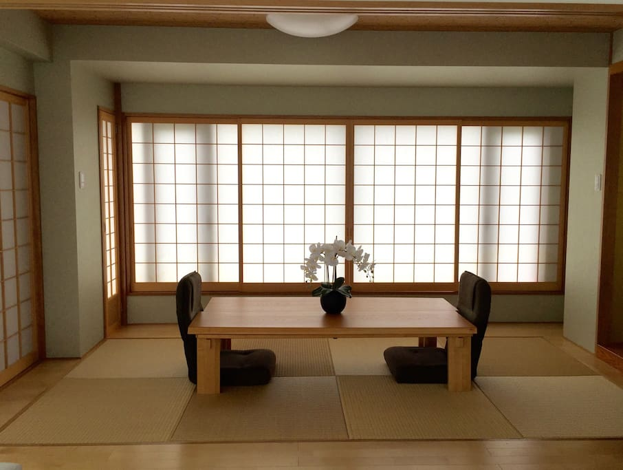 Tatami room as inspired by traditional Tea Ceremonies
