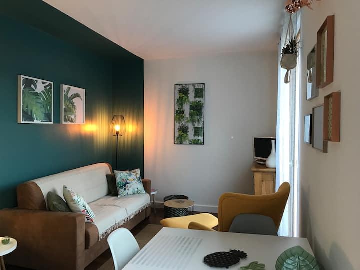 Joli petit appartement avec plage privée