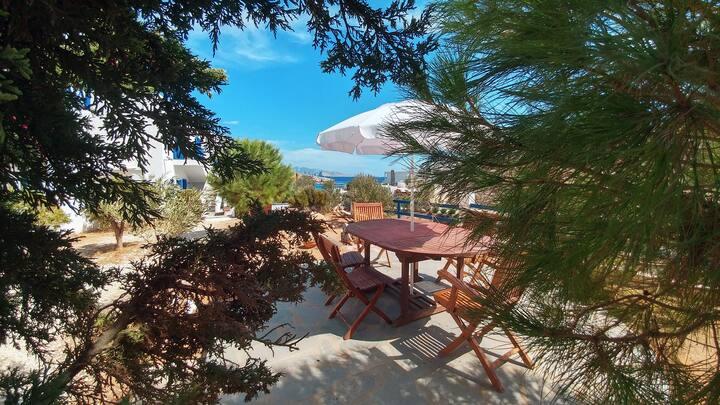 Tranditional cozy Triple  Studio with sea view