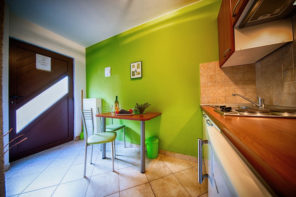 Kitchen with a dining area
