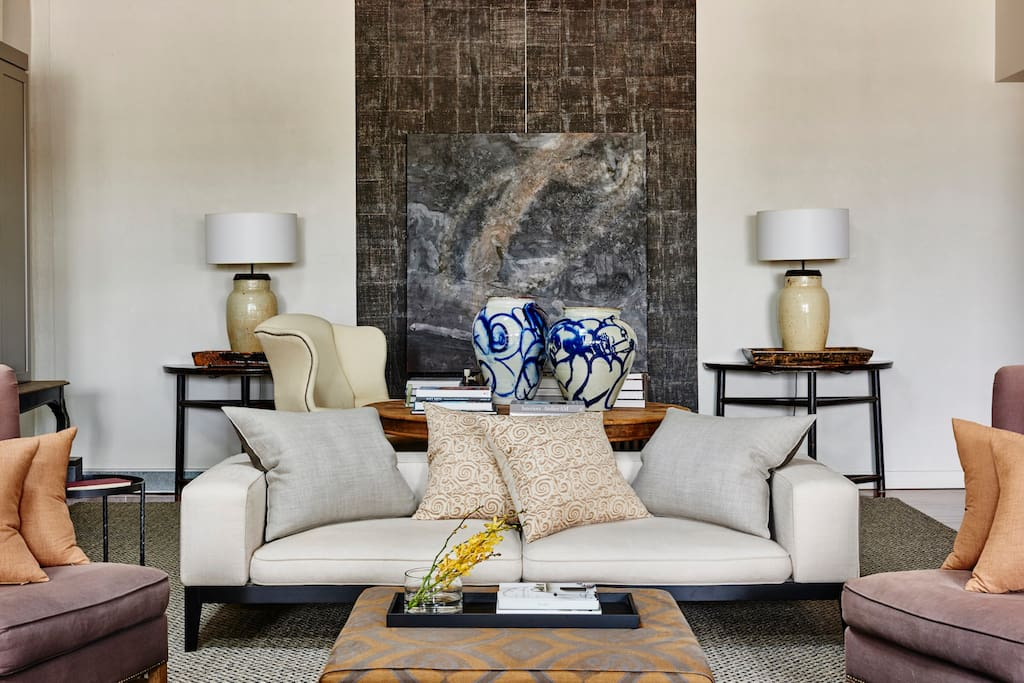 You'll love the tastefully furnished lounge area