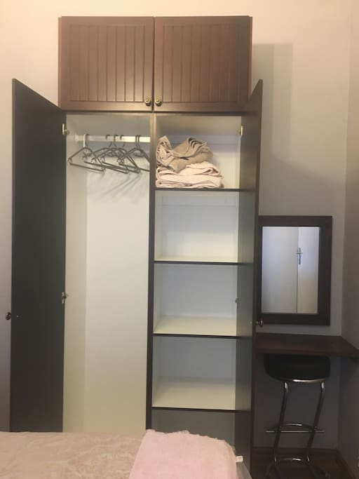 Lots of storage to hang and fold clothes.