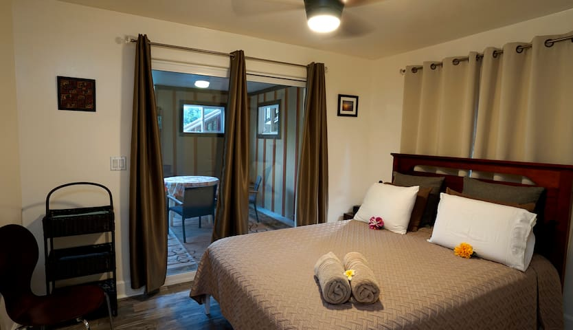 Access to your lanai from your bedroom