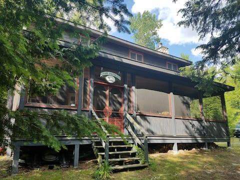 Central Adirondack Lakefront Solar Lodge