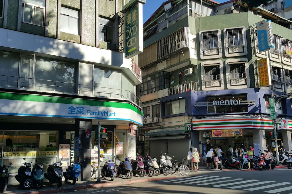 Family Mart and 7 Eleven