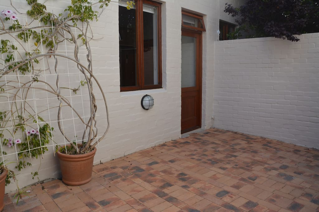 Private courtyard and entrance