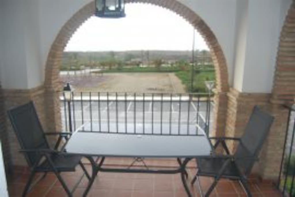 Terrace with view of Mojacar Pueblo ... The White Village