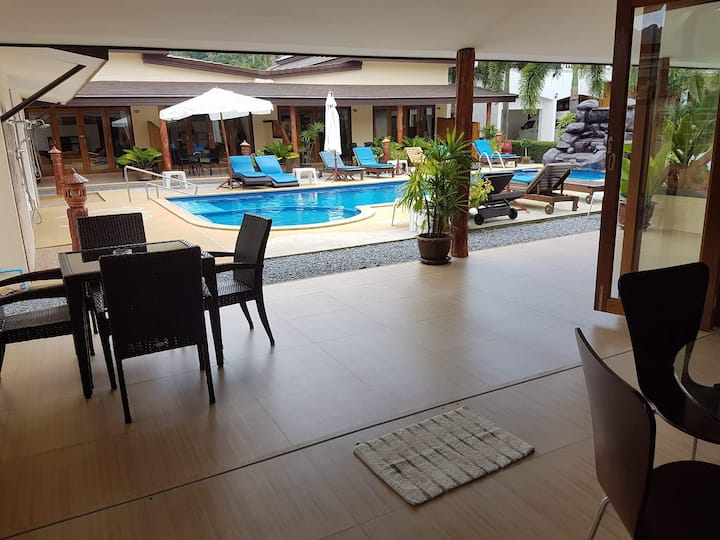 2-BEDROOM POOL VILLA WITH PRIVATE JACUZZI on patio