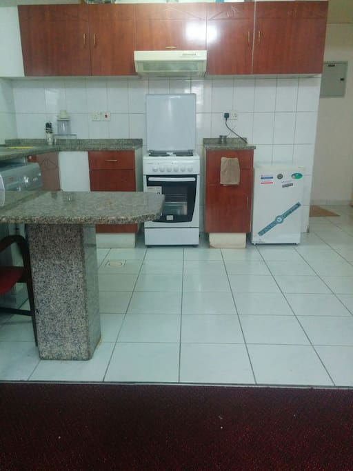 Open full equipped Kitchen