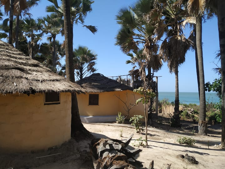 Unspoiled South Gambian Paradise Beach Roundhouse