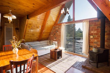 Adorable A-Frame! Best views, big deck & private!