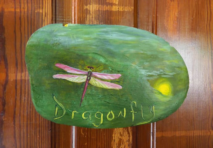 The Dragonfly Room at the Laughing Heart Lodge