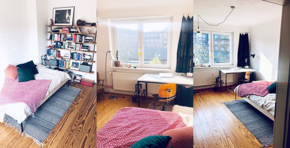 Sunny room in a stylish flat on Veddel island