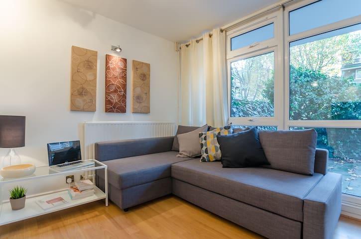 Double room with Garden near City & Canary Wharf