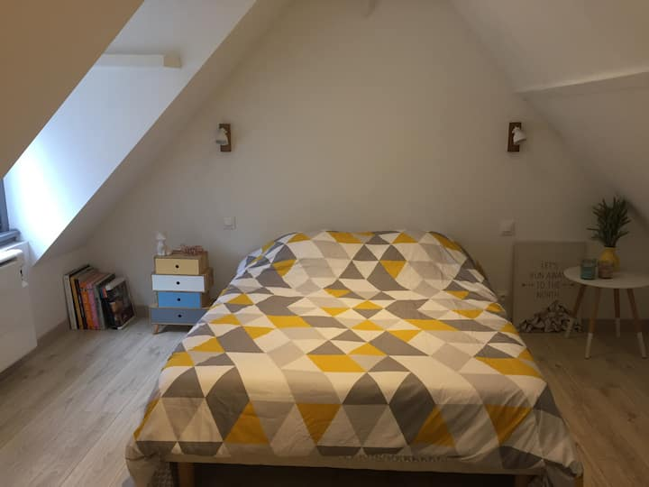 Chambre privée au Blanc cottage