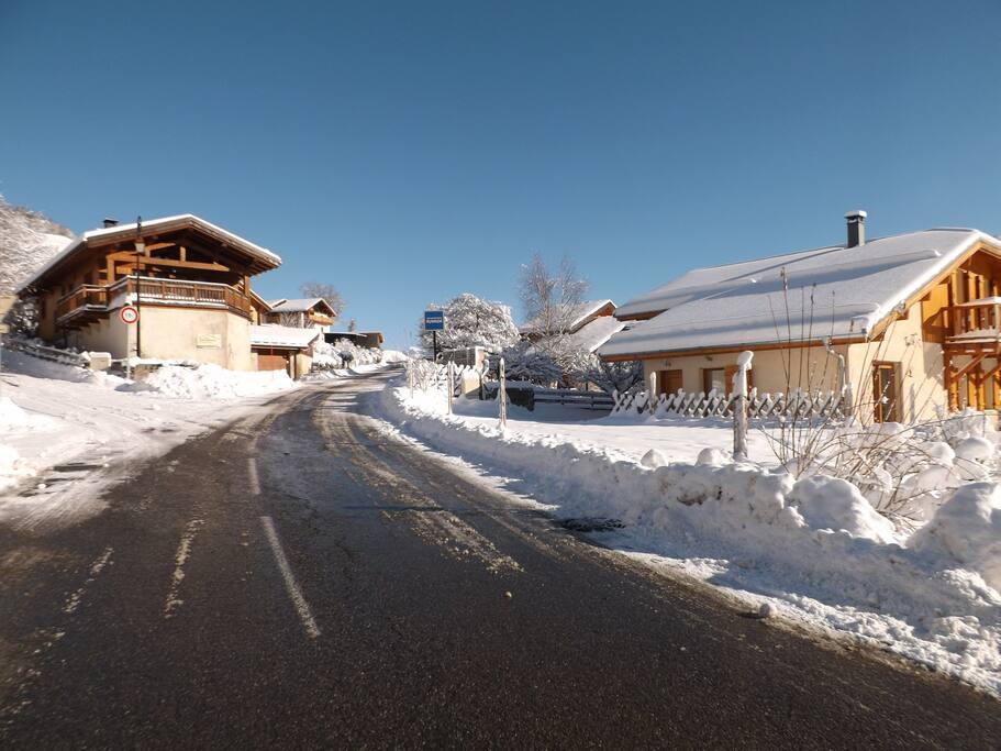 routes dégagées en hiver