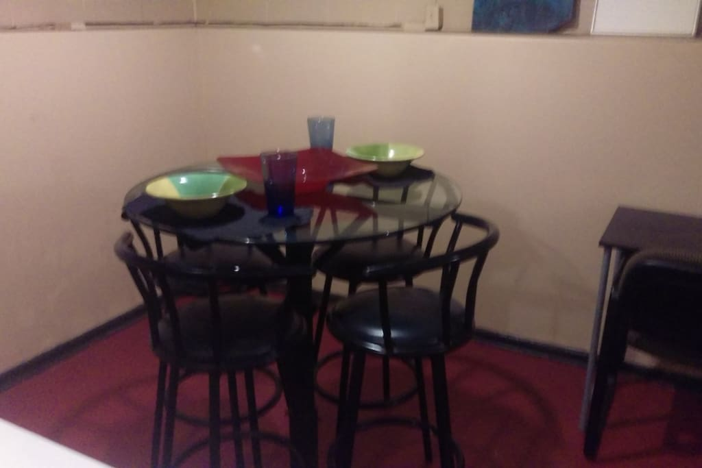 Cafe table for dining
