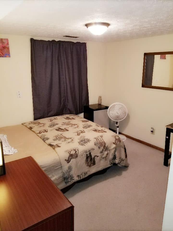 Private chill room in a cozi 2-bedroom apartment
