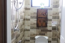 Wet bathroom (combined toilet and shower). *Currently do not have sink