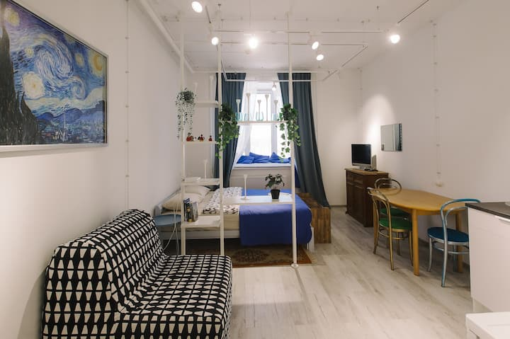 Апартаменты Меланж - Аквамарин уникальный дизайн