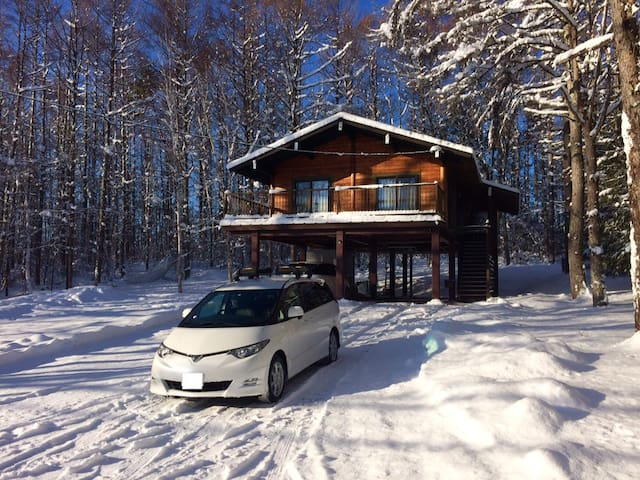 Escape the city!  Big Mountain Chalet + Car & WiFi