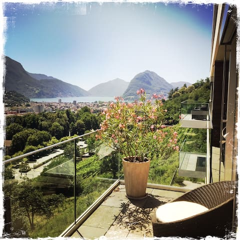New style /spacious Lugano Gulf lovely view apart - Lugano - Apartment