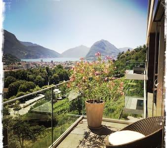 Appartamento moderno con vista sul golfo di Lugano - Lugano