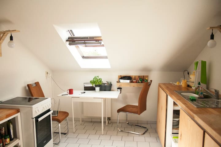 Bright, shiny and cozy apartment in Weimar.
