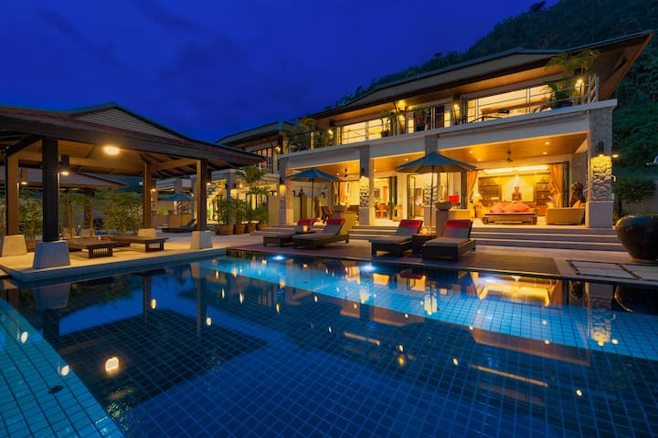 Grand Boutique Villa in Patong⚓Full Seaview⚓6 BRs