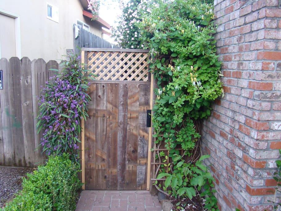 Gate leading to Guest House