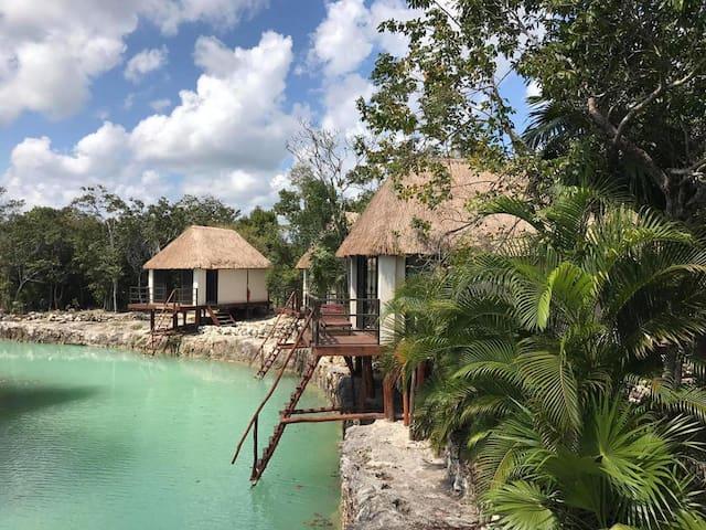 Zamna Tulum  (Eco-Cabañas / Vista al Cenote) - Quintana Roo - Cabaña en la naturaleza