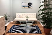 MBR sitting room with futon
