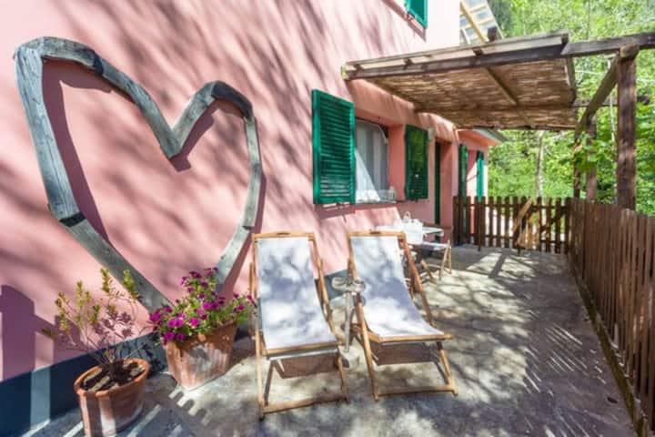 Villa Giuanne, families, Arenzano, Ligurian sea