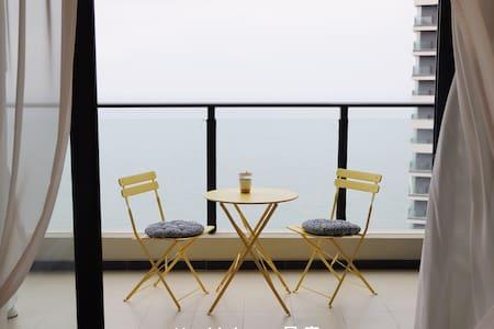 【Holiday】保利金町湾玥海   高层超一线海景 『直面大海』 楼下沙滩 亲子双床  两间相连