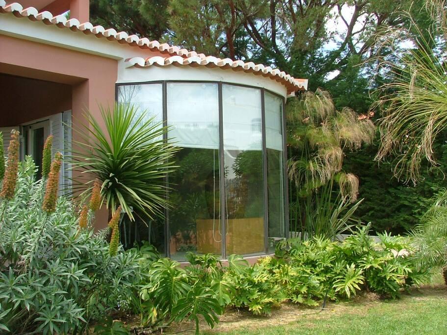 Garden & dining room bow window
