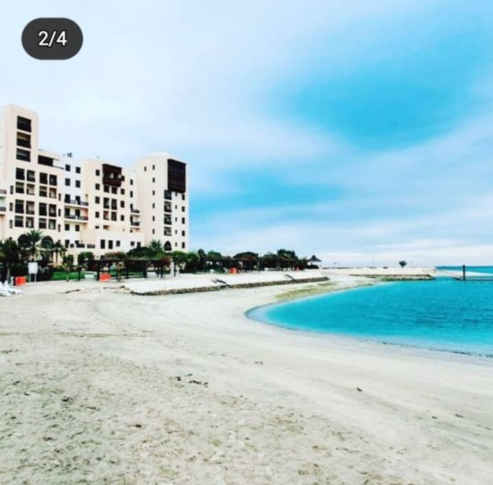 Amwaj monthly apartment on the beach