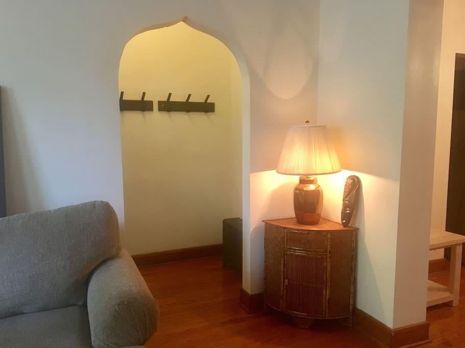 Entry into living room