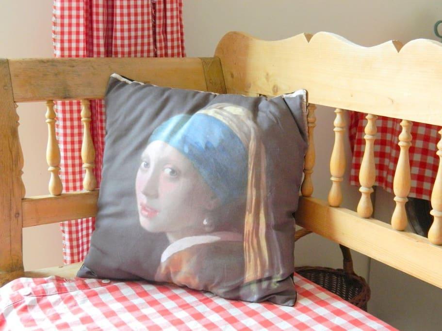 Het Meisje met de Parel van Vermeer.