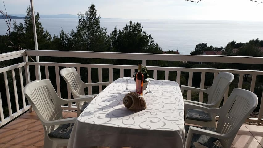 Studio flat with balcony and sea view Ivan Dolac (Hvar) (AS-12644-a)