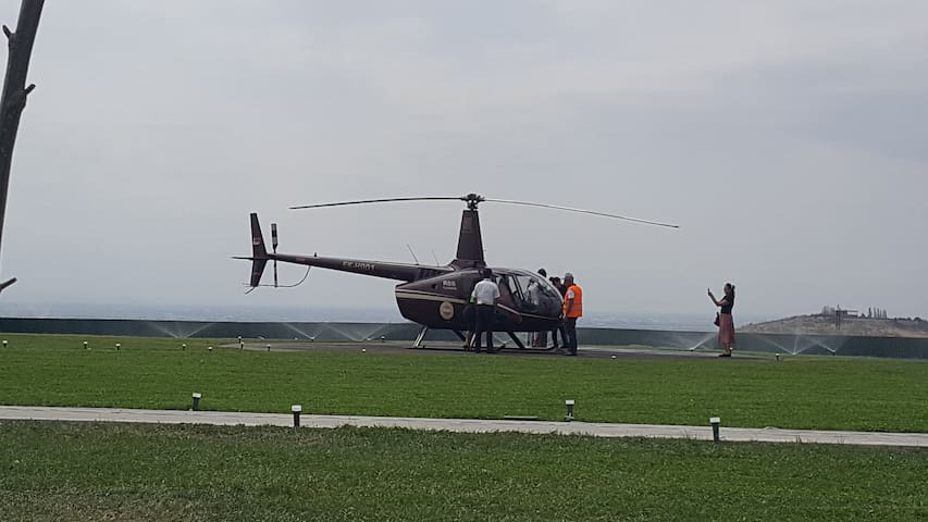 Helicopter station,  50  meters far from  apartment