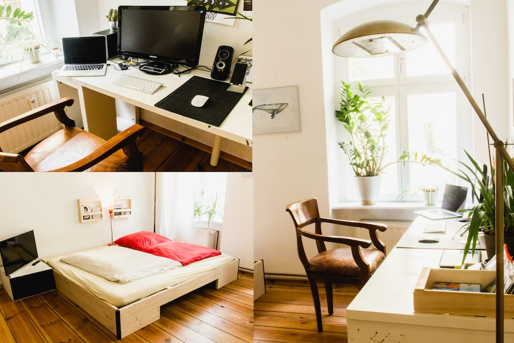 working space & bed