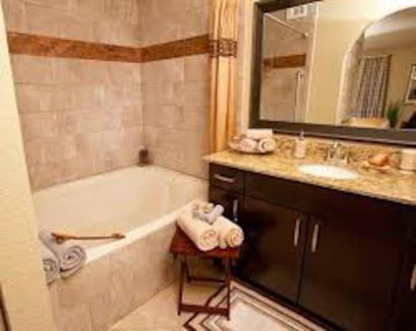 Bathroom (unit layout varies)