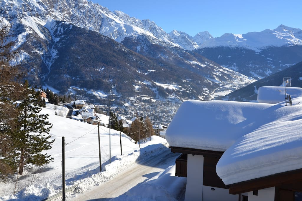 View over Bormio from our living room