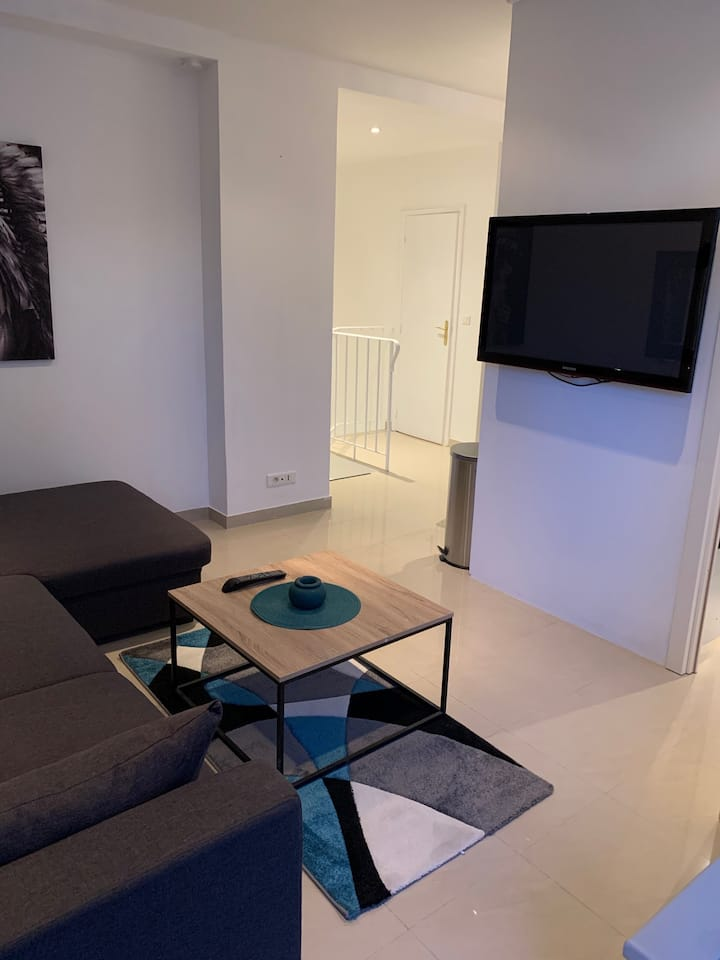 Chambre privative Duplex Cannes refait à Neuf