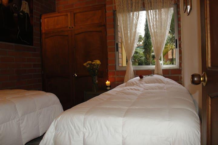 2. Twin room. Casa Arapaima Hostel in Sabaneta - Sabaneta - Asrama