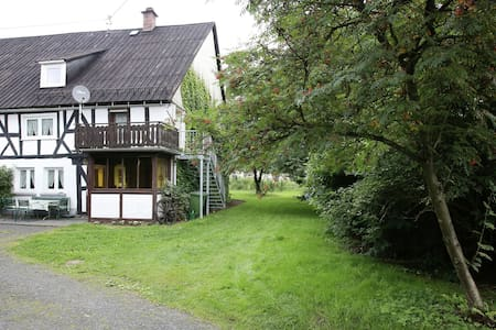 Mooi vakwerkhuis uit 1744 in Rennerod in het Westerwald