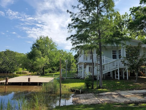Lake House in front of the bayou