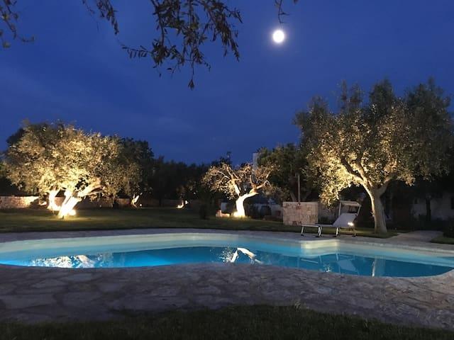 """""""Oasi Alba di Puglia""""Trulli in collina con piscina"""