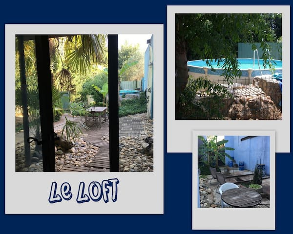 Original Loft with swimming pool